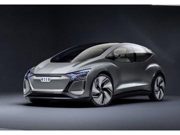 アウディの電気自動車コンセプト「AI:ME 」、6角形のシングルフレームグリルを上下を反転させてフロントフェイスを構成、これがアウディ製EVの特徴だ