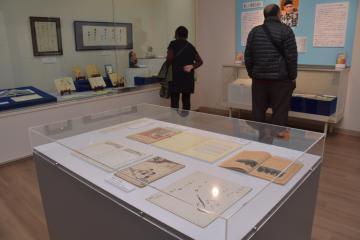 北茨城市歴史民俗資料館のリニューアルに合わせ開幕した野口雨情に関する企画展=同市磯原町磯原