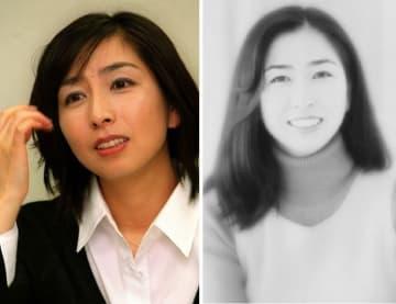岡村孝子さん(左は2001年、右は1996年)