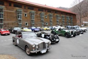 昨年より明治産業がレストアやパーツ供給を手掛けるようになったアルヴィス(写真車両はTD21)をはじめイギリス車が多く見受けられる。