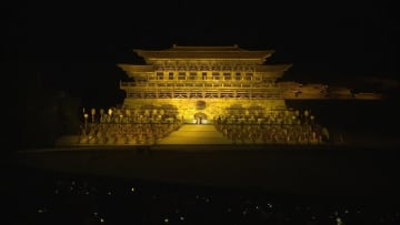 壮大な野外劇「文成公主」 今年第1回の上演