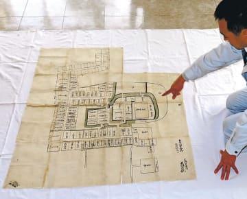 最古の坂元城絵図と判明した「大條家御家中絵図」