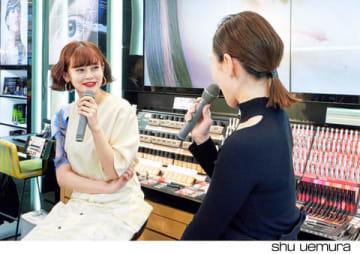 化粧品ブランド「シュウ ウエムラ」のトークイベントに登場したモデルのemmaさん