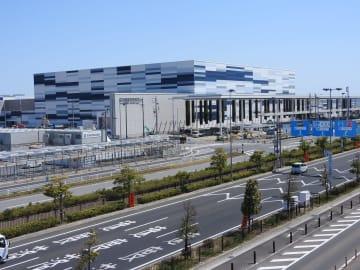 建設が進む愛知県国際展示場