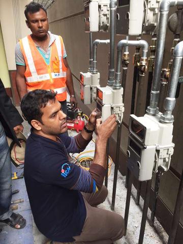 バングラデシュでガスメーター施工を拡大