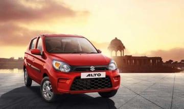 マルチ・スズキの「アルト」。23日には安全装備やデザインに変更を加えた新型を発表した(同社提供)