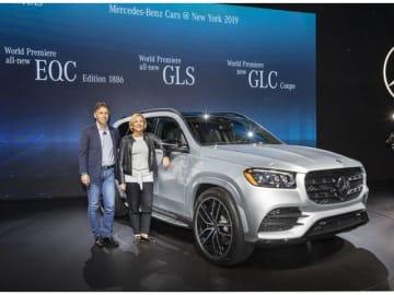 「ニューヨーク国際自動車ショー2019」プレスデーで公開されたブランド最上級のクロスオーバーSUVの新型メルセデス・ベンツGLS