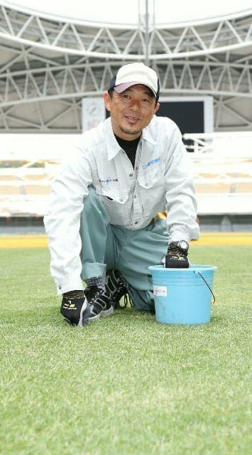 平田修さん(42)=別府市浜脇 昭和電工ドーム大分(大分市横尾)