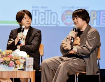 作品の魅力などを語る土生田さん(左)と内藤さん