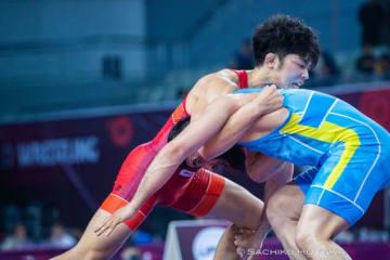 <レスリング>【写真集】2019年アジア選手権・第1日/男子フリースタイル65・79・97kg級