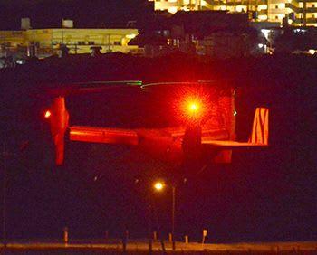 22時を過ぎているのに… オスプレイ2機が深夜に94デシベル 宜野湾で連日夜間騒音「非常に迷惑」