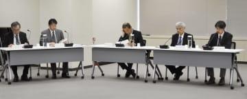 原子力規制委の定例会合=24日午前、東京都港区