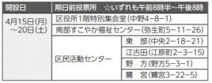 4月21日(日)は中野区議会議員選挙の投票日です