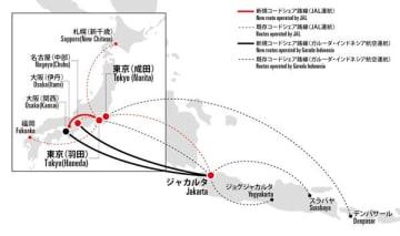 JALとガルーダ・インドネシア航空、コードシェア拡大 ガルーダの名古屋/中部・大阪/関西〜ジャカルタ線など対象に