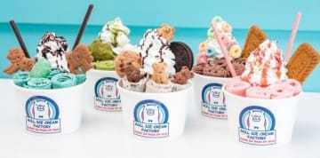 写真を拡大 イオンモール徳島に期間限定で出店する「ロールアイスクリームファクトリー」の商品
