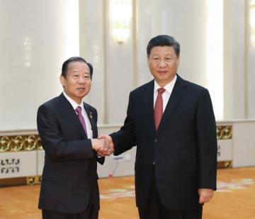 習近平主席、日本首相特使の二階氏と会見 「一帯一路」積極参加を希望