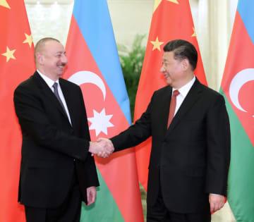 習近平主席、アゼルバイジャンのアリエフ大統領と会見