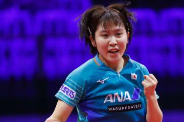【卓球】平野美宇、8強入り 中国・丁寧とのメダル決定戦へ<世界卓球2019>