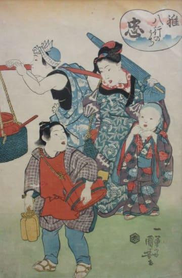 歌川広重ほか作品26点 秦野で「浮世絵に描かれた子どもたち」展