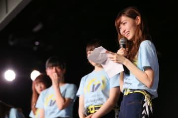 グループからの卒業を発表するNGT48の山口真帆さん(c)AKS