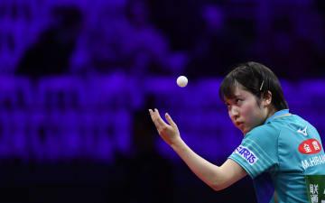 平野美宇が16強入り 卓球世界選手権