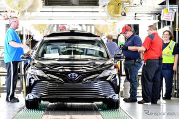 カムリを生産するトヨタ米ケンタッキー工場
