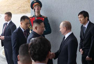 プーチン大統領と金正恩氏が会談