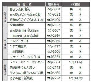 ゴールデンウィークの営業案内 (4月27日(土)~5月6日(月))