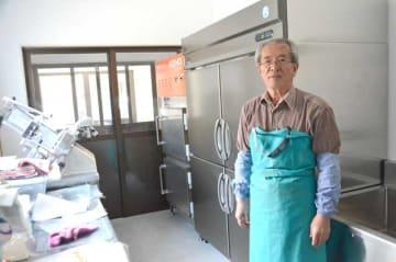 日之影町大人地区でジビエ加工施設を新設した振興協議会の田中会長