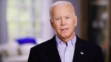 25日、ビデオ声明で米大統領選への出馬を表明したバイデン前副大統領(ロイター=共同)