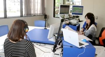 新スタジオで始まったコミュニティエフエムの生放送