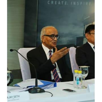 Maruti Suzuki India Chairman R.C. Bhargava speaks at a news conference in New Delhi on Thursday. (Photo: Maruti Suzuki)