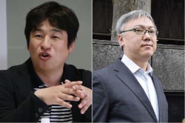 川上量生氏(左)と山本一郎氏(右)(いずれも弁護士ドットコム撮影)