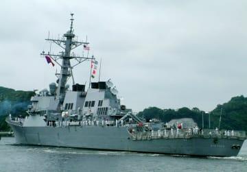 横須賀に配備された米海軍のイージス駆逐艦「ステザム」