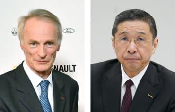 ルノーのジャンドミニク・スナール会長、日産自動車の西川広人社長