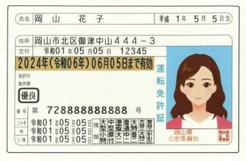 「令和」が表記された運転免許証のイメージ