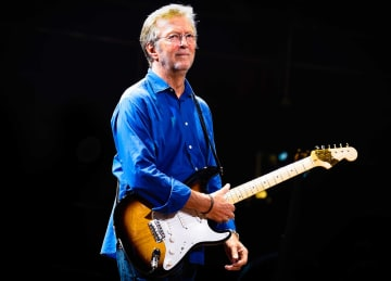 Eric Clapton performs live at the Royal Albert Hall