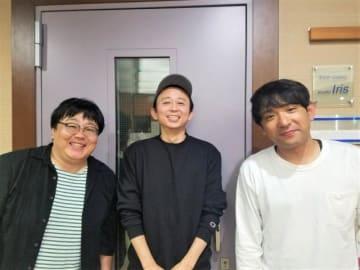左から関太、有吉弘行、酒井健太