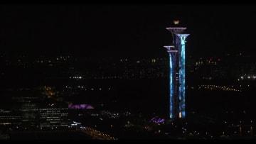 北京の「中軸線」がライトアップ
