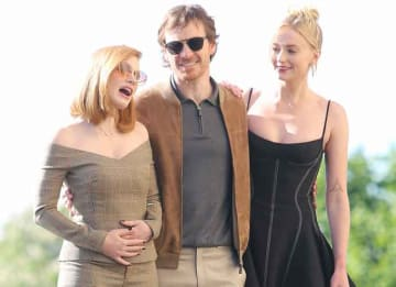 Sophie Turner, Jessica Chastain & Michael Fassbender Head To Eiffel Tower For 'X-Men: Dark Phoenix' Tour