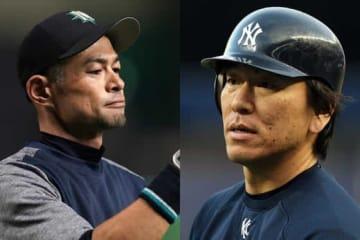 MLBでプレーしていたマリナーズ時代のイチロー(左)とヤンキース時代の松井秀喜【写真:Getty Images】