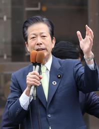 参院選への支持を訴える公明党の山口那津男代表=29日午後、神戸市中央区(撮影・藤家 武)
