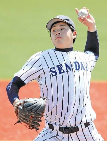 宮教大―仙台大 7回1安打無失点と好投し今季初勝利を挙げた仙台大の大関