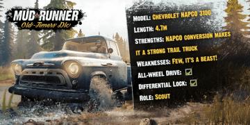 悪路踏破ドライブ『Spintires: MudRunner』無料DLC「Old-Timers」が配信―1950年代米国を激走!