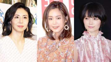 (左から)松嶋菜々子さん、桐谷美玲さん、宮崎あおいさん