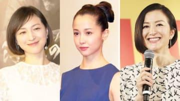(左から)広末涼子さん、沢尻エリカさん、鈴木京香さん