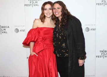 Zoey Deutch & Director Tanya Wexler Attends Premiere Of 'Buffaloed' At 2019 Tribeca Film Festival