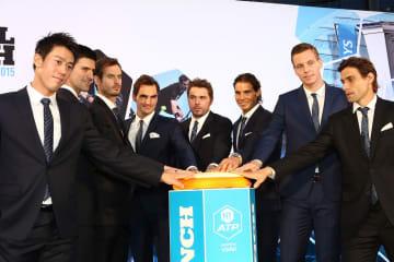 2015年度 ATPファイナルズ発表式典での選手たち