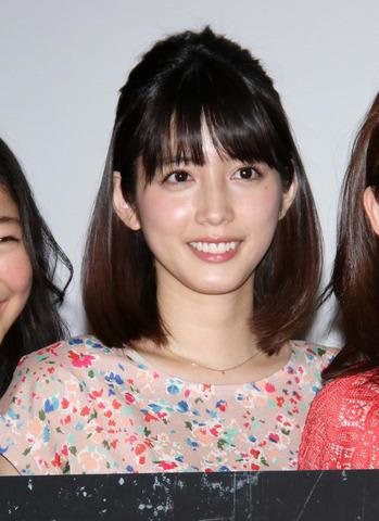 ホラー映画「映画としまえん」の先行上映会後の舞台あいさつに登場した松田るかさん
