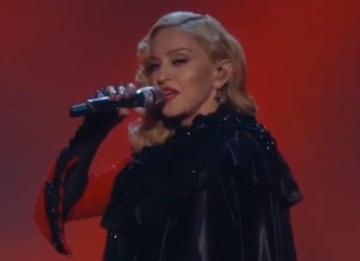 Madonna performs at the 2015 GRAMMYs